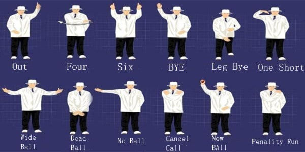 Cricket Umpire Hand Signals