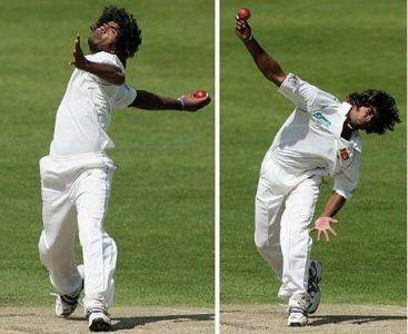 cricket bowler arm placement